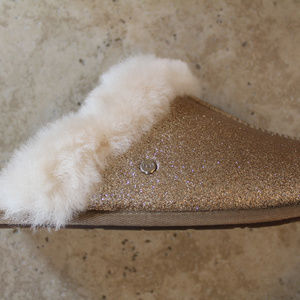 UGG Shoes - UGG SCUFETTE METALLIC SLIPPERS NEW! GOLD